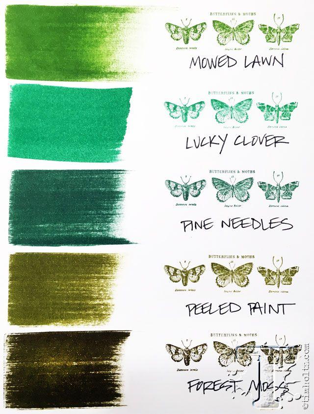 Distress Ink Spray Over Acrylic Paint